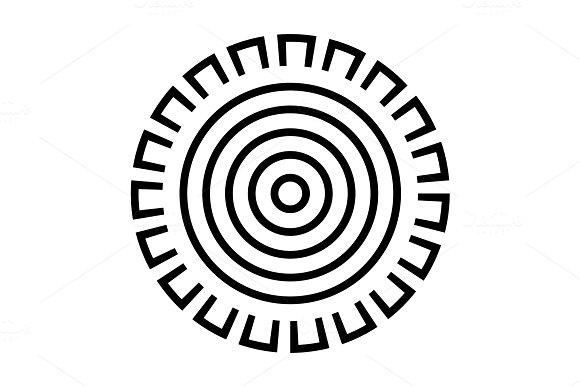 Sun icon  Sun symbol  Vector and