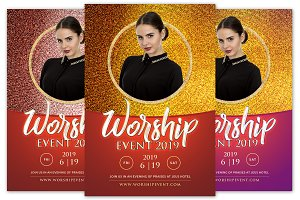 Worship Event Church Flyer