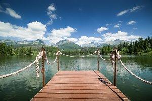 Strbske Pleso Lake Pier