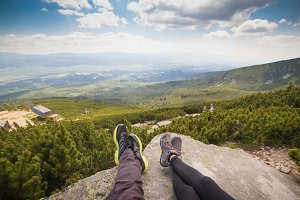 Couple Relaxing After Hiking