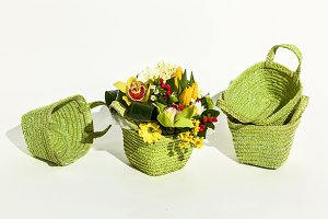 Basket for packing flowers