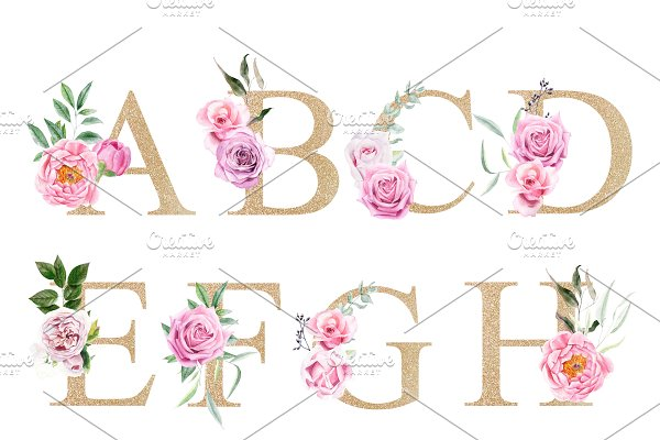 Spring illustrations & monograms