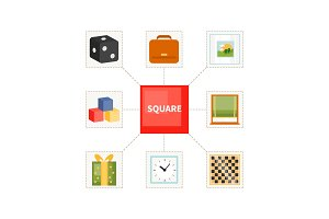 Square objects for children