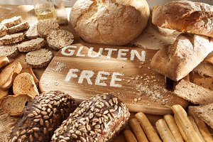 Gluten free food. Various pasta