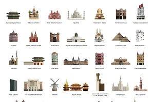 Illustration collection of tourist