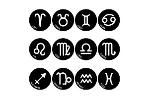 Astrology symbols, zodiac signs