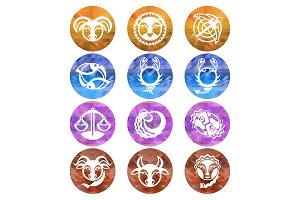 Zodiac signs, astrology symbols
