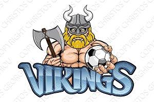Viking Soccer Football Sports Mascot