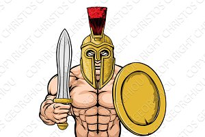 Spartan Trojan Sports Mascot