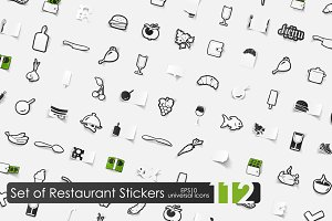 112 restaurant stickers