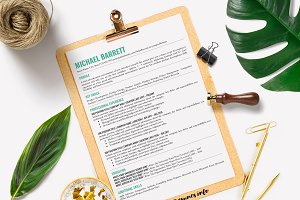 One Page Resume Template Google