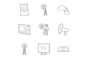 Internet connection icons set