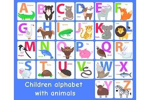 Children Alphabet with Animals