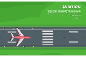 Aviation. Aircraft. Runway. Flight
