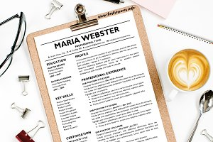 Two Page Resume Template Google CV