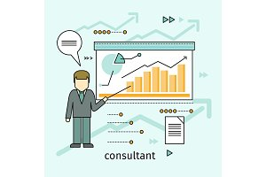 Business Consultant Vector Concept