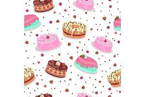 Tasty Celebratory Cakes Vector