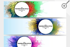 Colorful banners, abstract headers