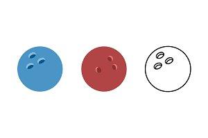 Bowling ball illustration. Ball
