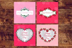 Valentine's Flowers Frames