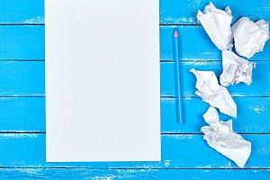 rectangular sheet of paper