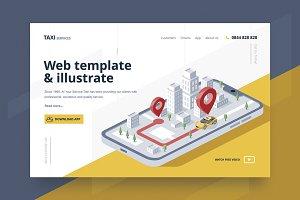 Isometric illustrate & Web Template