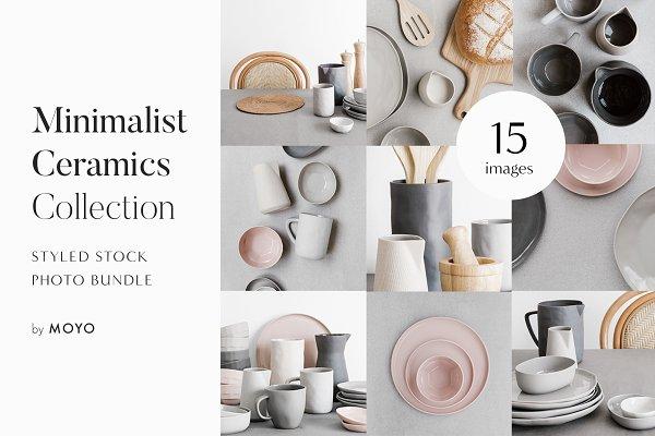 Minimalist Ceramics Photo Bundle