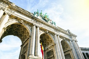 The triumphal arch of Brussels in Be