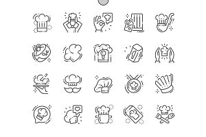 Chef's hat Line Icons