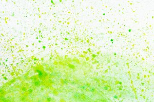 Green watercolor splashes background