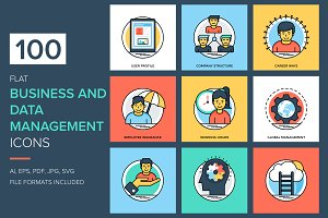 Business and Data Management Icons