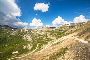 Alpine meadows, high mountain