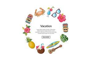 Vector cartoon summer travel
