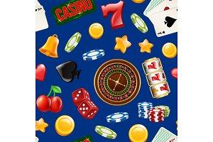 Vector realistic casino gamble