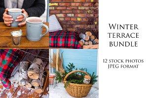 Cozy winter terrace | BUNDLE