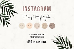Nude Instagram Story Highlight Icons