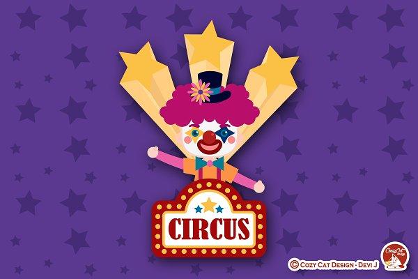 Circus Digital Clip Art