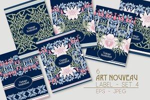 Art Nouveau Label, Cover