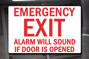Emergency Exit Sign Decal