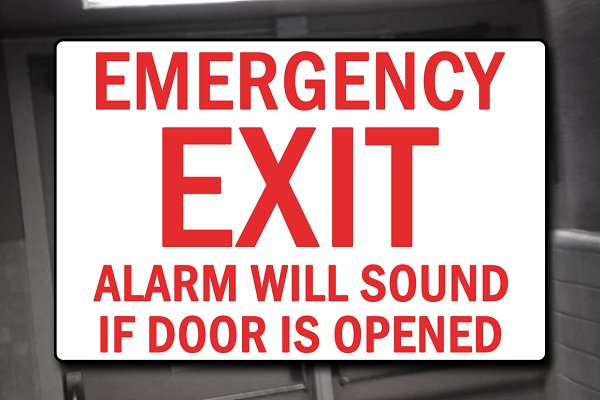 3D Metal: PixelMonster - Emergency Exit Sign Decal