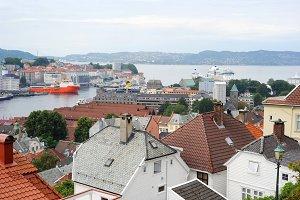 Bergen city view, Norway