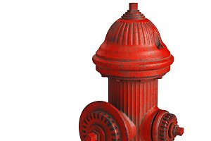 Fire alarm hydrant red, close view