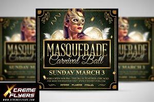 Masquerade Ball Flyer Template