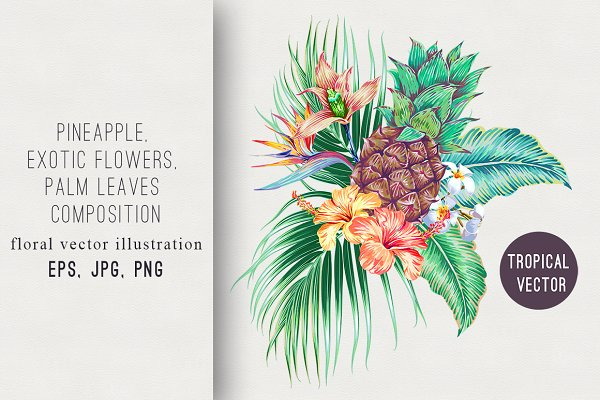 Tropical Flowers Leaves Print Pre Designed Illustrator Graphics Creative Market About 3% of these are 100% rayon fabric, 1% are 100% polyester fabric, and 0% are knitted fabric. tropical flowers leaves print