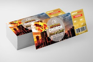 Church Revival Ticket Templates
