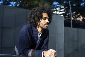 Portrait of handsome Afro American m