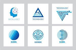 Electronic Technology Logo Set