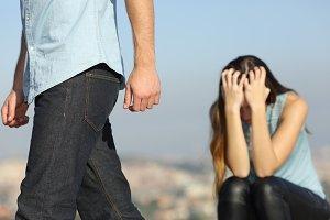 Boyfriend leaving his girlfriend aft