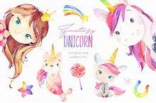 Fantasy Watercolor Unicorn