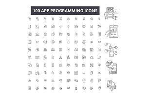 App programming editable line icons